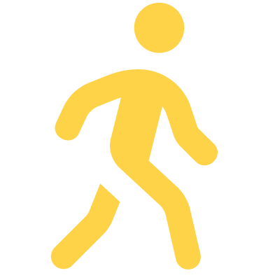 stick figure walking away