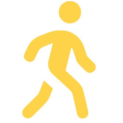 stick figure walking away