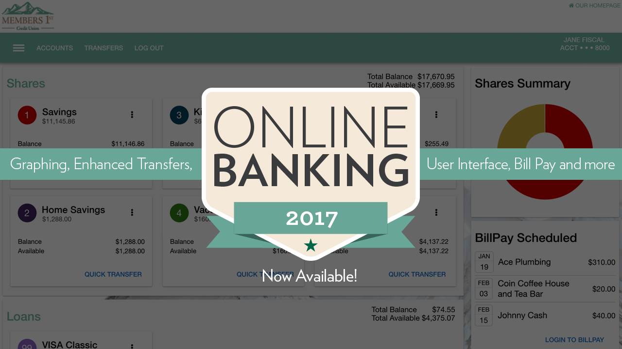 New Online Banking Features Now Available